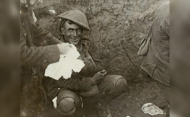 The Face of Crazy. The severe effects of shell shock, what we now know as PTSD, on a WWI soldier. 1919