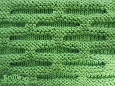 Honeycomb Knitting Stitch Pattern