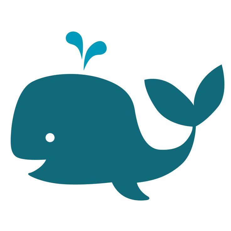 Deze goedlachse walvis past perfect op de kleertjes van je kleintje, print 'm op flockfolie en strijk het op z'n favoriete kledingstuk! Ook leuk om als sjabloon te gebruiken op de muur van de badkamer.