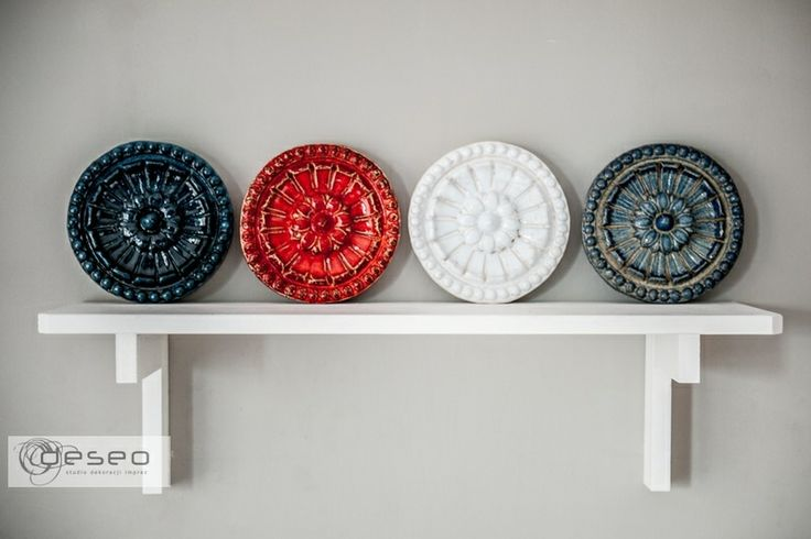 Dekoracja ściany kafle ceramiczne 5 sztuk w deseo na DaWanda.com