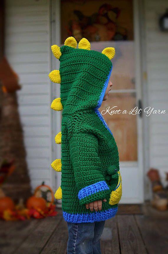 Crochet Dinosaur Sweater #dinosaur #crochet #shopping #birthdaygift #handmade #yarn #gifts #design #etsy