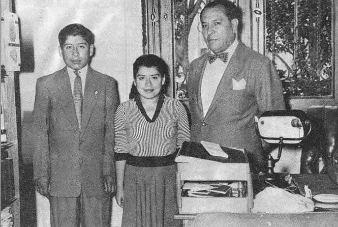 Here is a picture of Lina Medina, the girl who gave birth at age five, pictured with her son, Gerardo. He is 18, and she is 23.