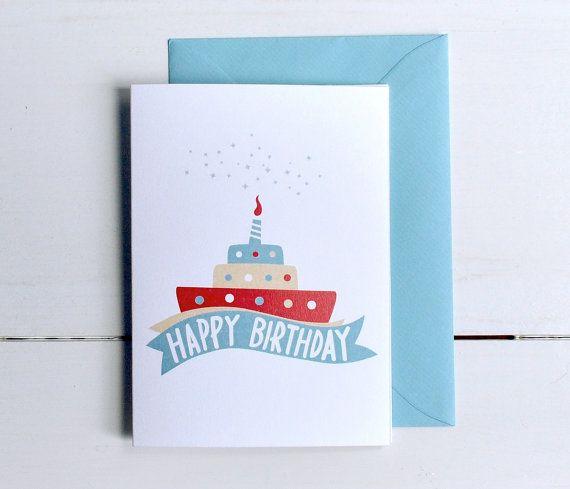 Happy Birthday Card di MonsieurP su Etsy.