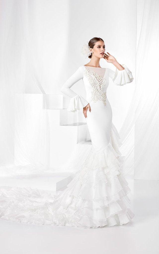 Vestido novia estilo andaluz