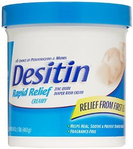 Desitin Diaper Rash Cream Rapid Relief, 16-Ounce Jar $10.99