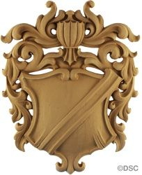Shield-Heraldic 12H X 9  1/2W - 3/4Relief 5641 Decorator's Supply (Wonderful supply with all kinds of choices)