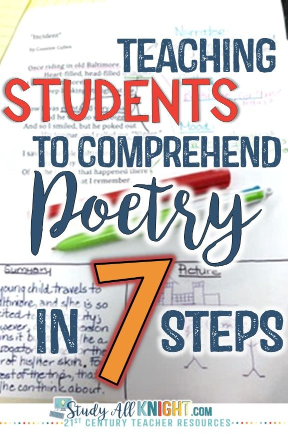 Teaching Students to Comprehend Poetry in 7 Steps