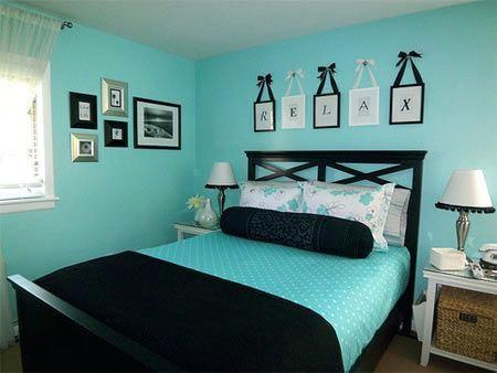 Opulent Aqua Bedroom Decorating Ideas