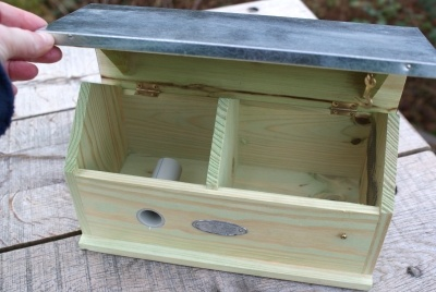 Bumble bee box! So sad to find a nest in my compost bin. No deaths but a bunch of misplaced bees.The nest looked like corn...