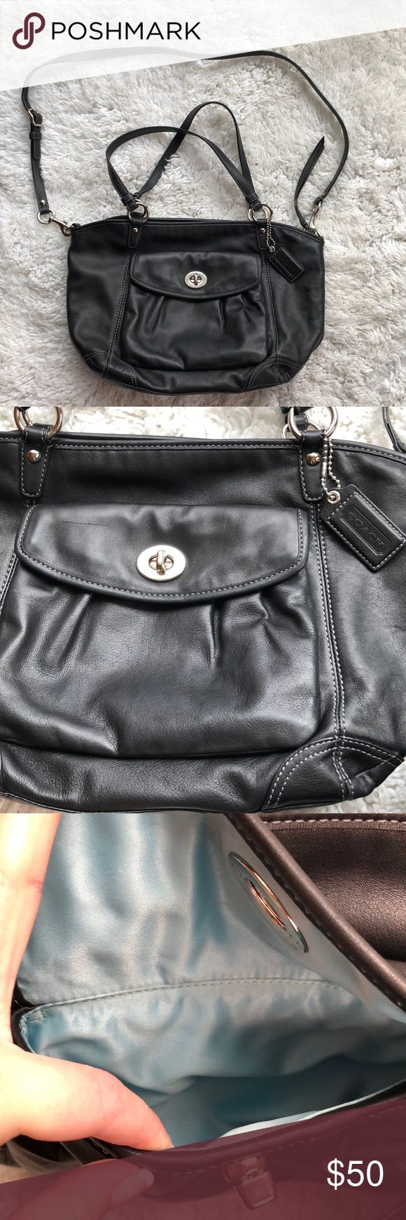COACH PURSE It has straps for shoulder wear and a long strap to be worn as a crossbody. It is an older model but is in PERFECT condition with no wears or tears anywhere. The inside of the purse looks brand new and super clean. Coach Bags Crossbody Bags
