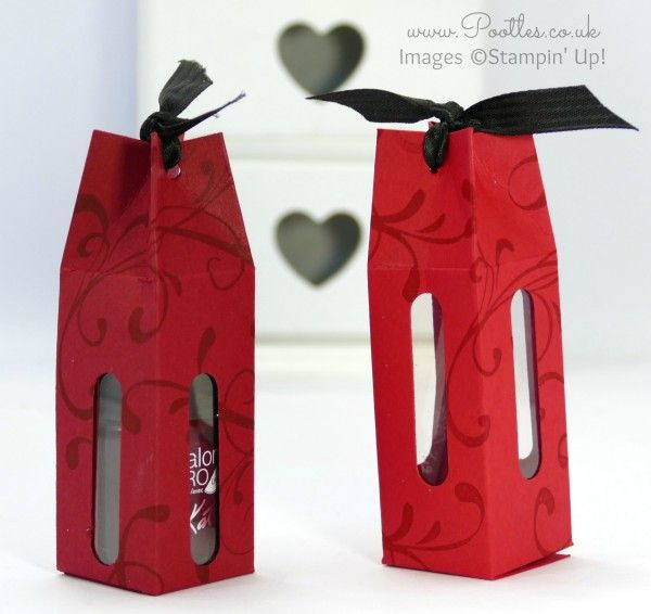 Stampin' Up! Demonstrator Pootles - Nail Polish Bottle Box Tutorial