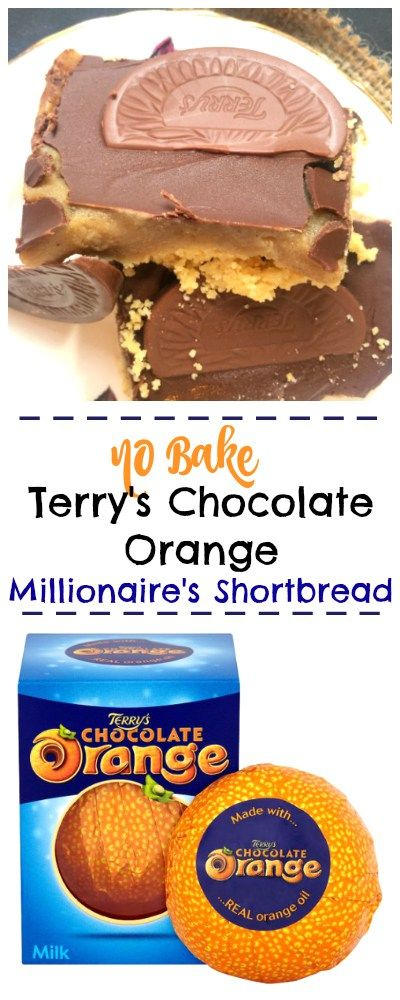 Easy No Bake Terry's Chocolate Orange Millionaire's Shortbread recipe that's ready in just 10 minutes! So easy, anyone can make it! Easy Terry's Chocolate Orange recipe More