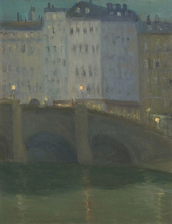 Night Sketch, Bridge Over the Seine c. 1906