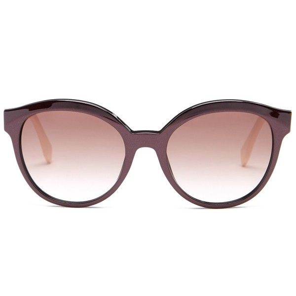 fendi cat eye sunglasses sale aa2n  FENDI Women's Round Sunglasses $120  liked on Polyvore featuring  accessories, eyewear,