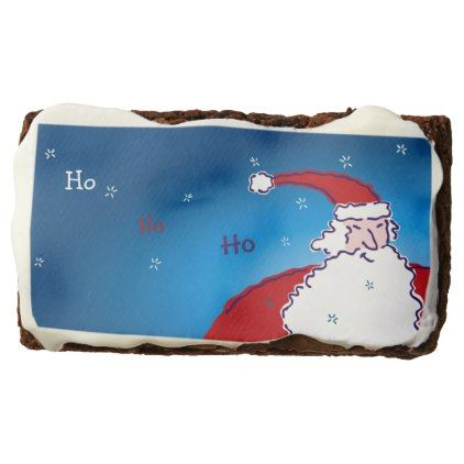 Hi Ho Santa Chocolate Brownie - home gifts ideas decor special unique custom individual customized individualized