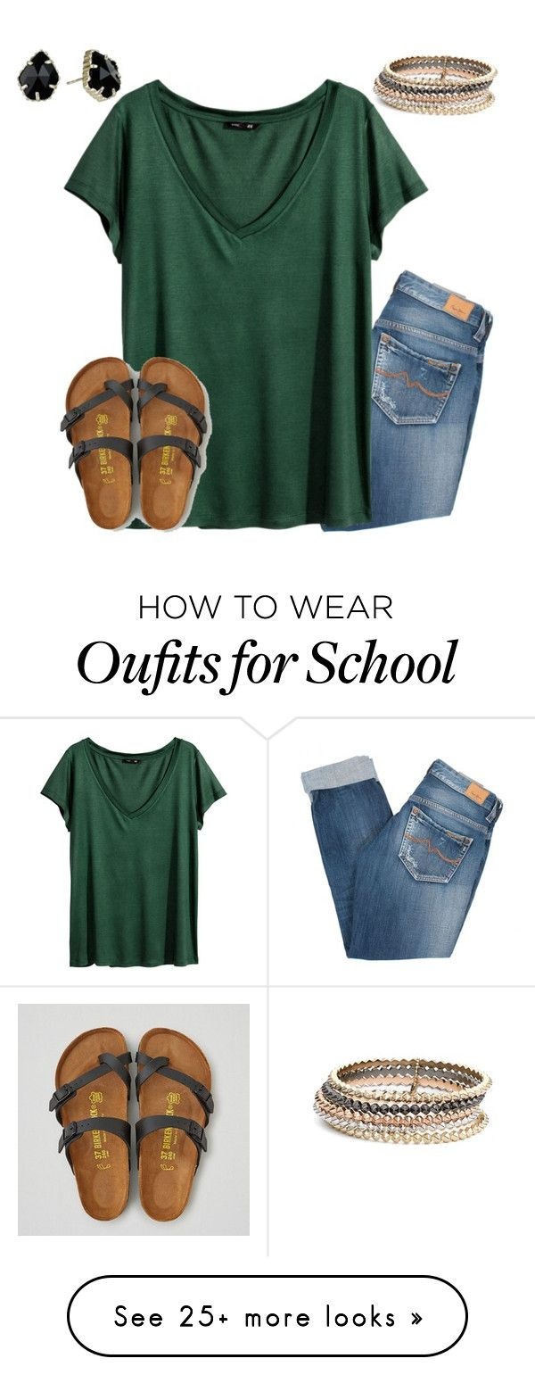 going to high school soccer game in a bit by jazmintorres1 on Polyvore featuring Kendra Scott, Pepe Jeans London, H&M and American Eagle Outfitters