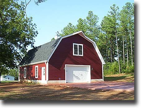 Gambrel barn photo barn workshops pinterest gambrel for Gambrel garage kit