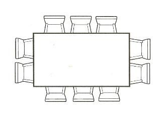 Dining Table Size (7u0027 X 4u0027) For 10 People   3 On Long Sizes, 2 On Short  Sides. | Decorating | Pinterest | Decorating, Room And Living Rooms
