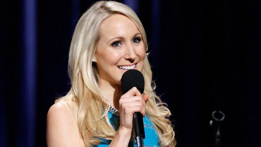 Comedian Nikki Glaser performs live on Late Night.