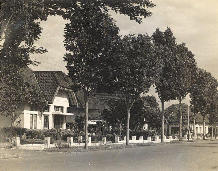 Villawijk naar Nederlands model in Bandung, Java, Indonesië (1933)