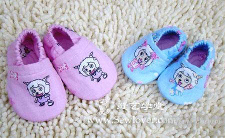 Пинетки из ткани для малышей. Как сшить, выкройка / Шитье, вязание для детей на спицах и крючком с описанием