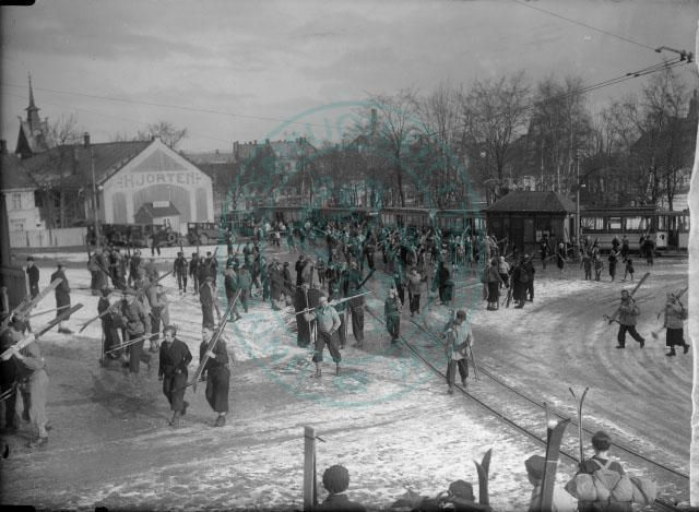 Fra Ilevolden , skiløping 1934