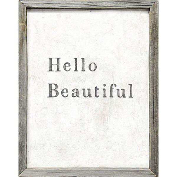 Vintage Framed Art, Beautiful Art Print, Hello