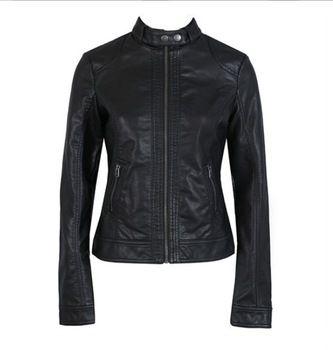 a subseção, único pimkie pu lavada jaqueta de couro da motocicleta feminina curta parágrafo slim couro grande tamanho atacado