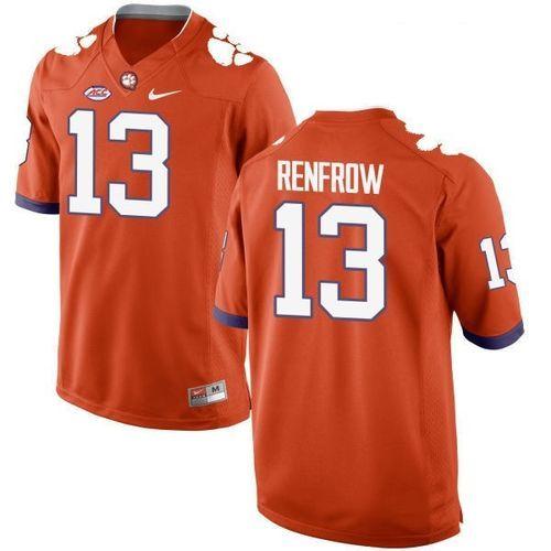 huge discount e3f1a 4382f Clemson Tigers Hunter Renfrow #13 Football Replica Jersey ...