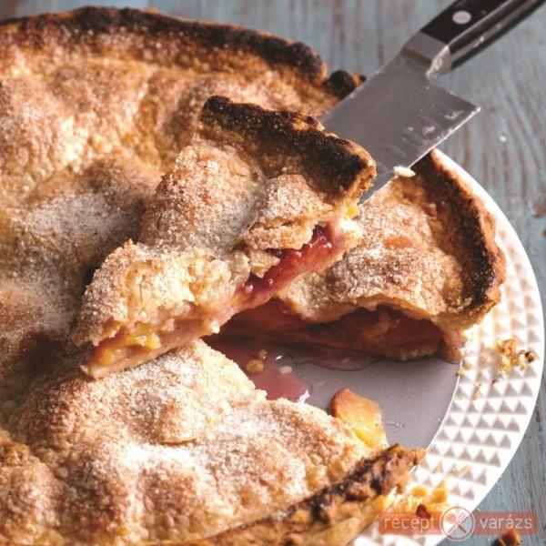 Őszibarackos pite vaníliával