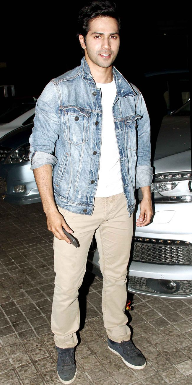 Varun Dhawan at the special screening of 'Main Tera Hero'. #Style #Bollywood #Fashion #Handsome