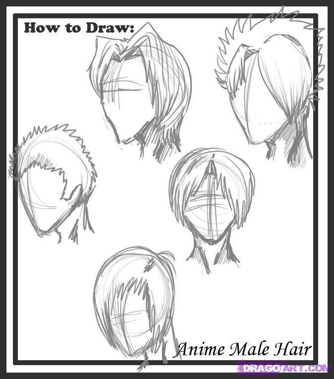 The Best Drawing Male Hair Ideas On Pinterest Boy Hair - Hairstyle boy drawing