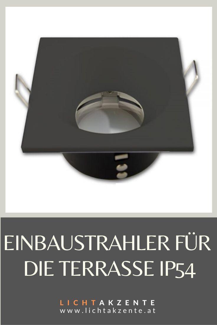 Aussenbereich Deckeneinbauleuchte Ip54 Eckig Schwarz In 2020 Badezimmer Quadratisch Strahler Beleuchtung Decke