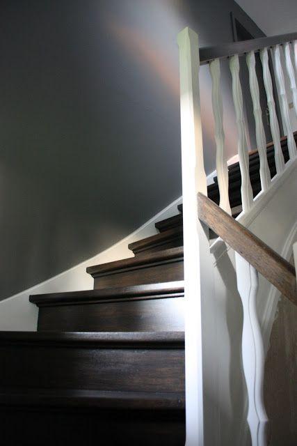 Décoration et architecture d'intérieur: Cage d'escaliers (Lasure et peinture)