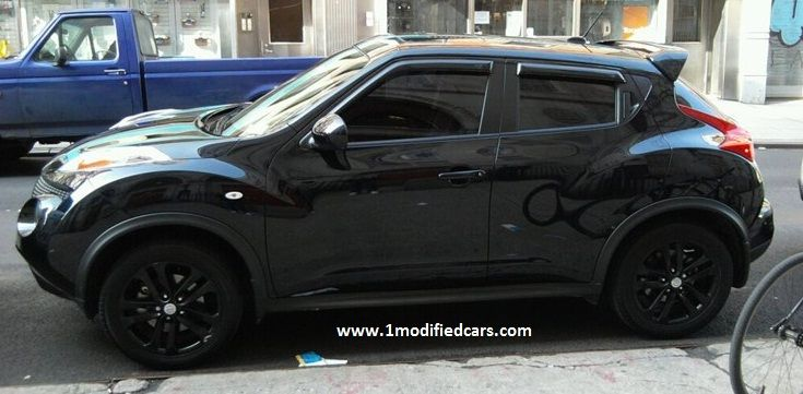 Modified 2012 Black Nissan JUKE with Injen Cold Air Intake for better performance