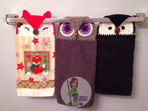 crochet towel top, topper