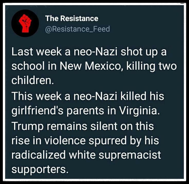 WhiteSupremist Nazi Terrorists... where's the Outrage??