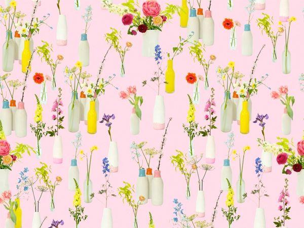Isabelle Pink Wallpaper for web © Ella Doran