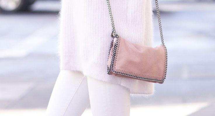 Stella McCartney bag. Love the soft pink