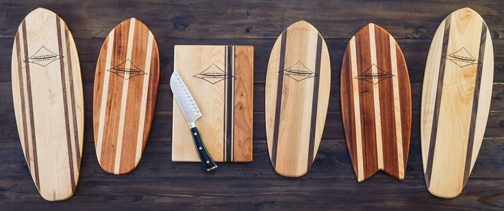 Funshape Surf Inspired Cutting Board
