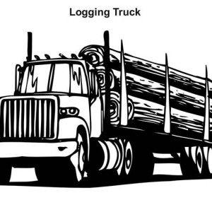 Semi Truck Logging Truck In Semi Truck Coloring Page Logging