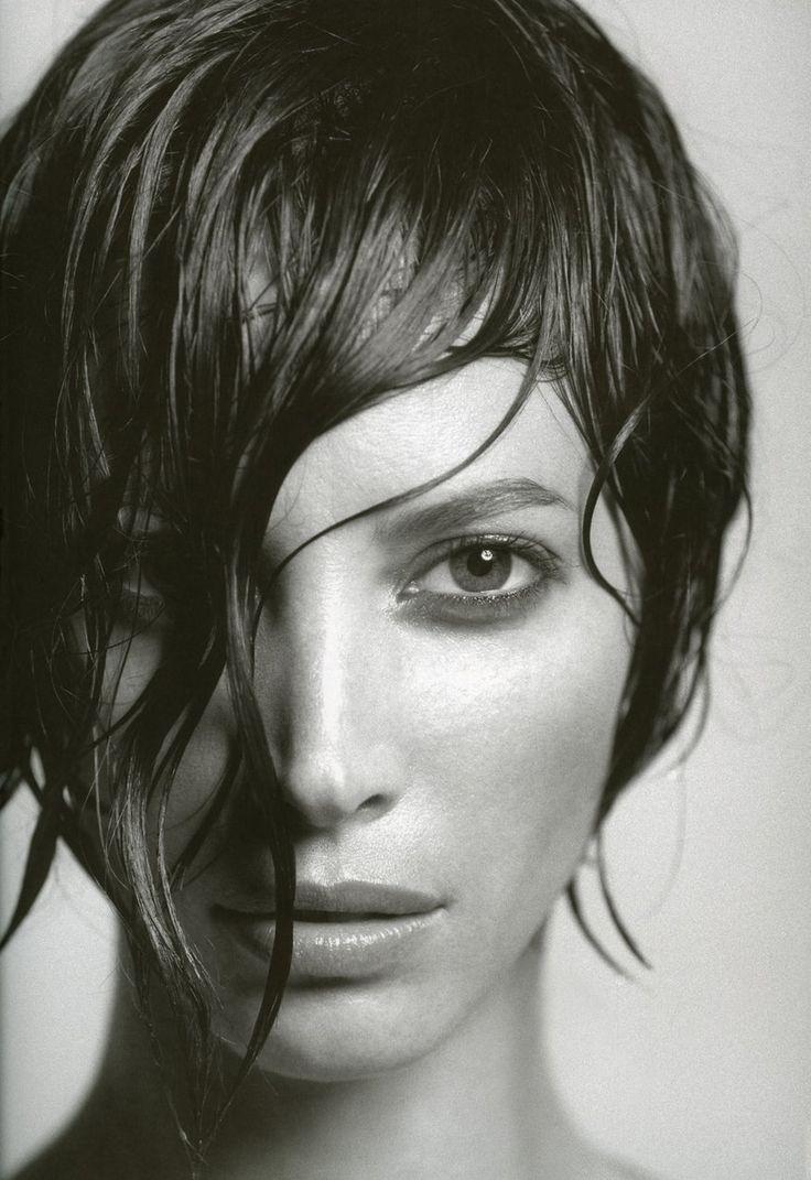 Christy Turlington    shot by James Houston for Not Only Black + White, 2005