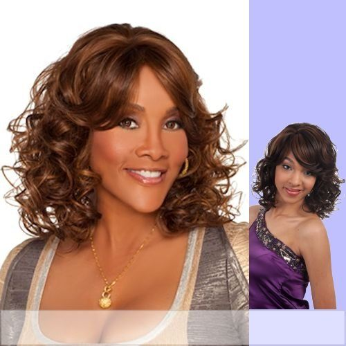 WP-DENVER-V (Vivica A. Fox) - Heat Resistant Fiber 3/4 Cap Wig in FS1B_33 ** This is an Amazon Affiliate link. Click on the image for additional details.