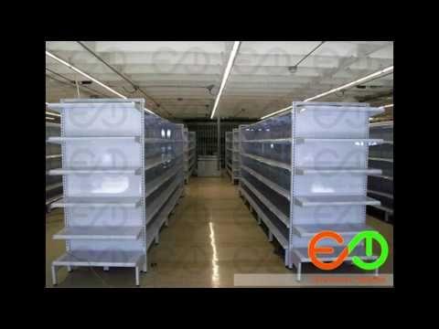 Gondolas metalicas de supermercados Medellin Colombia