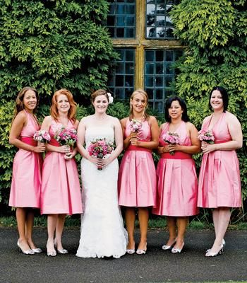 #Pink #bridesmaid dresses
