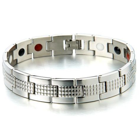 Stainless Steel Health Function Link Bracelet for Man with Magnets, Germanium, Negative Ion and Far Infrared - http://yourpego.com/stainless-steel-health-function-link-bracelet-for-man-with-magnets-germanium-negative-ion-and-far-infrared/?utm_source=PN&utm_medium=http%3A%2F%2Fwww.pinterest.com%2Fpin%2F368450813235896433&utm_campaign=SNAP%2Bfrom%2BHealth+Guide