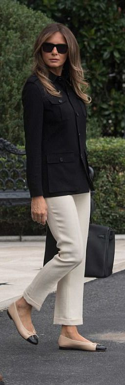 Melania Trump On the Way To Fort Myers Florida on September 14th 2017