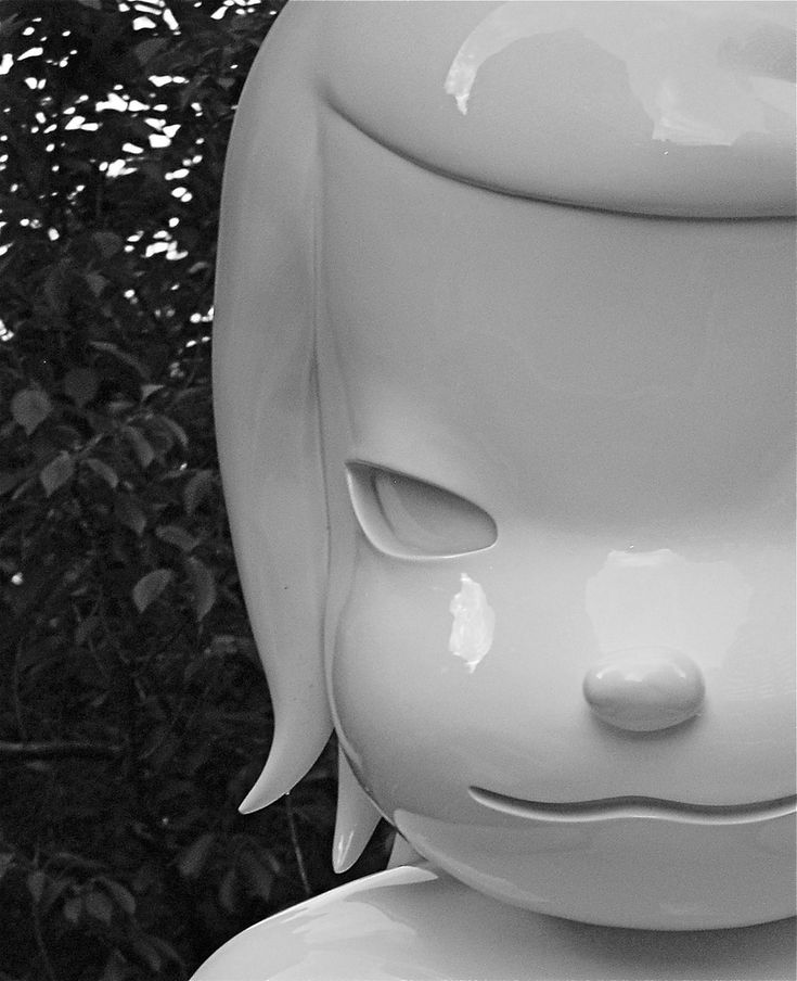 """""""White Ghost"""" by Japanese pop artist Yoshitomo Nara, installed on Park Avenue, in conjunction with today's opening of Nara's exhibit at ASIA SOCIETY called """"Nobody's Fool."""" The 12 foot-tall sculptures are made of fiberglass and steel. They are located on the Park Avenue median near the entrances to Asia Society (at 70th Street) and Park Armory (at 67th Street). nyclovesnyc.blogspot.com/2010/09/yoshitomo-naras-white-gh..."""