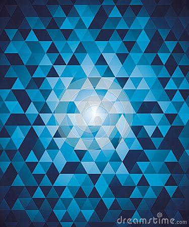 Fondo geométrico abstracto con los triángulos azules