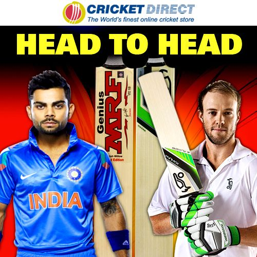 Virat Kohli or AB de Villiers? Who will score the most runs in today's T20 World Cup semi-final between India  South Africa?   Check out Virat Kohli's cricket bat and de Villiers's blade online, in-store  on your mobile at #Cricket Direct.